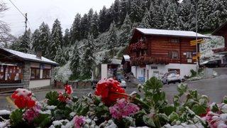 Valais: il a neigé (brièvement) assez bas dans la nuit de dimanche à lundi