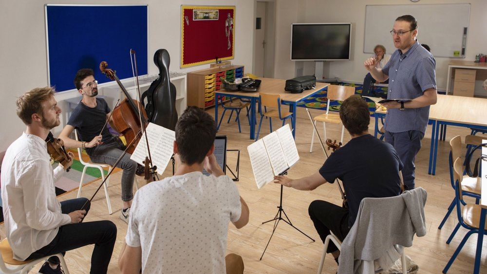 Le quatuor Agate, l'un des quatre quatuors choisis pour les master classes des Crans-Montana Classics.
