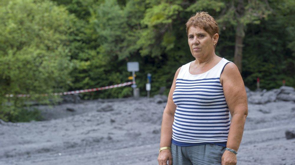 Selon Elvira Favre, c'est ici que les deux voitures emportées par la lave torrentielle étaient stationnées.