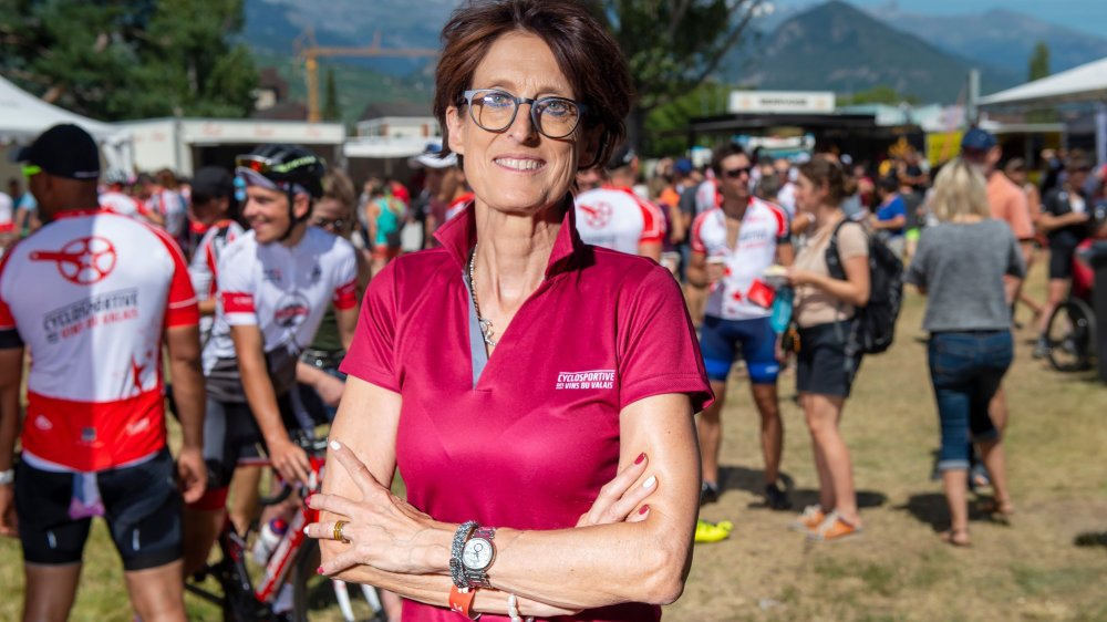 Patricia Gacond, satisfaite pour sa première à la tête de la Cyclosportive des vins du Valais.