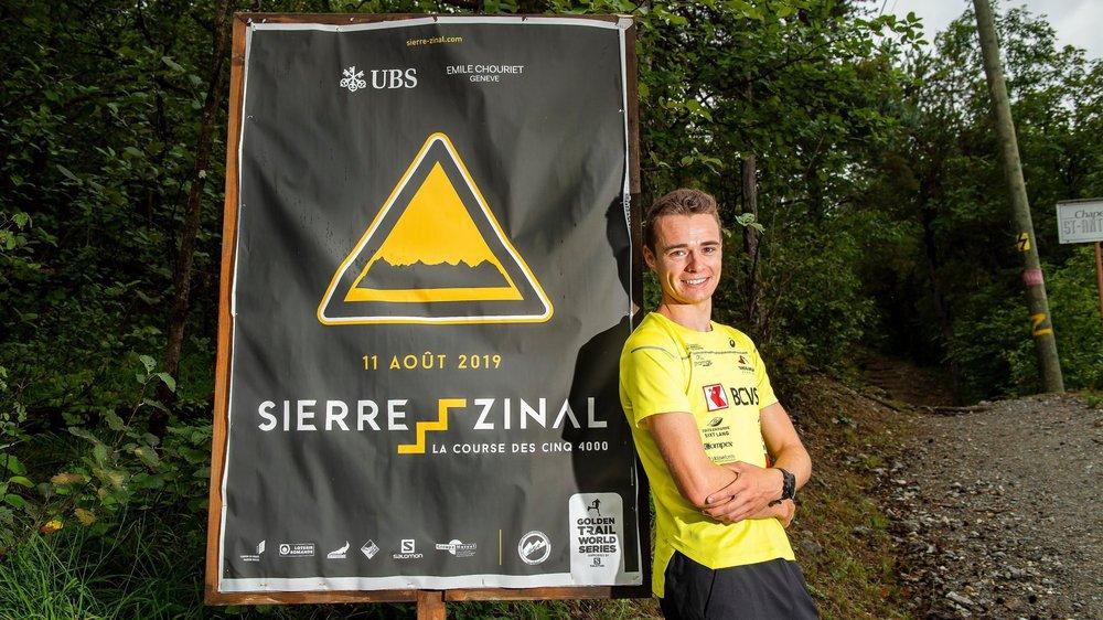 Maximilien Drion vivra sa première participation à Sierre-Zinal sans pression. Ce qui ne veut pas dire qu'il attaquera la course sans ambitions. Bien au contraire, même!
