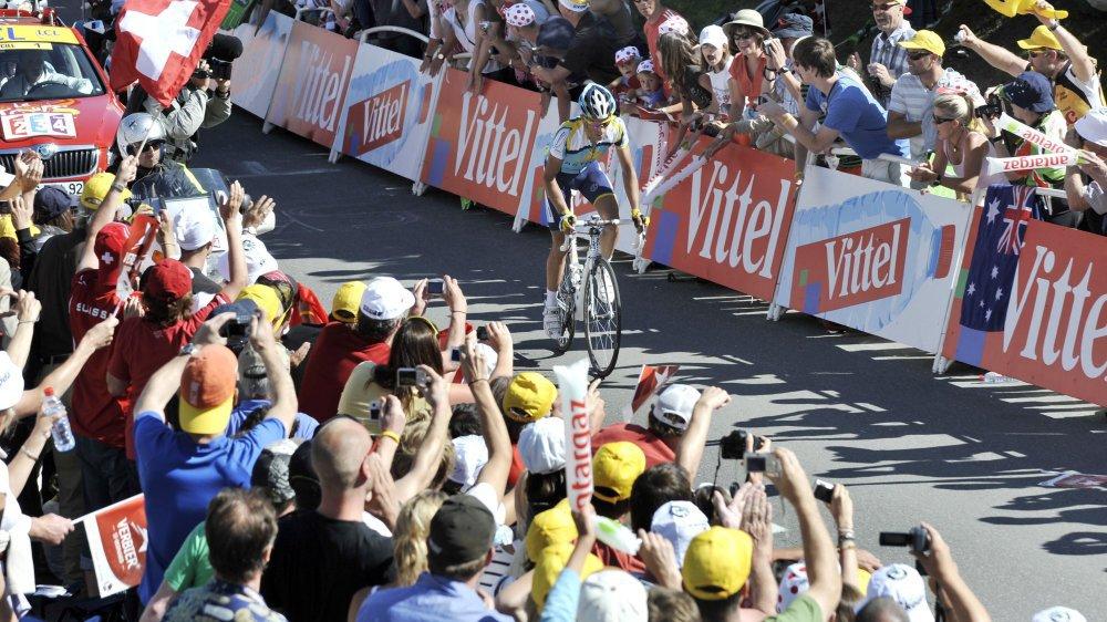 Alberto Contador de retour à Verbier ce samedi, dix ans après sa victoire sur l'étape du Tour de France qui avait pour cadre la station bagnarde.