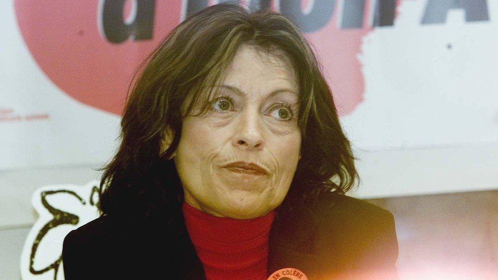 Anne-Christine Bagnoud s'est engagée sans compter pour l'égalité, comme ici à l'occasion de la Journée des droits de la femme du 8 mars 2004.