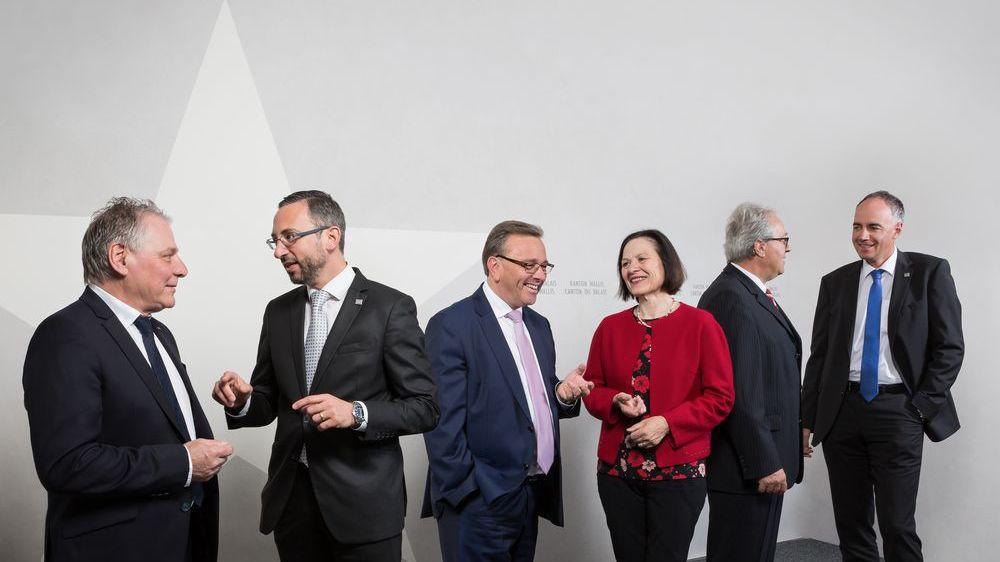 La photo officielle du Conseil d'Etat, version 2019.