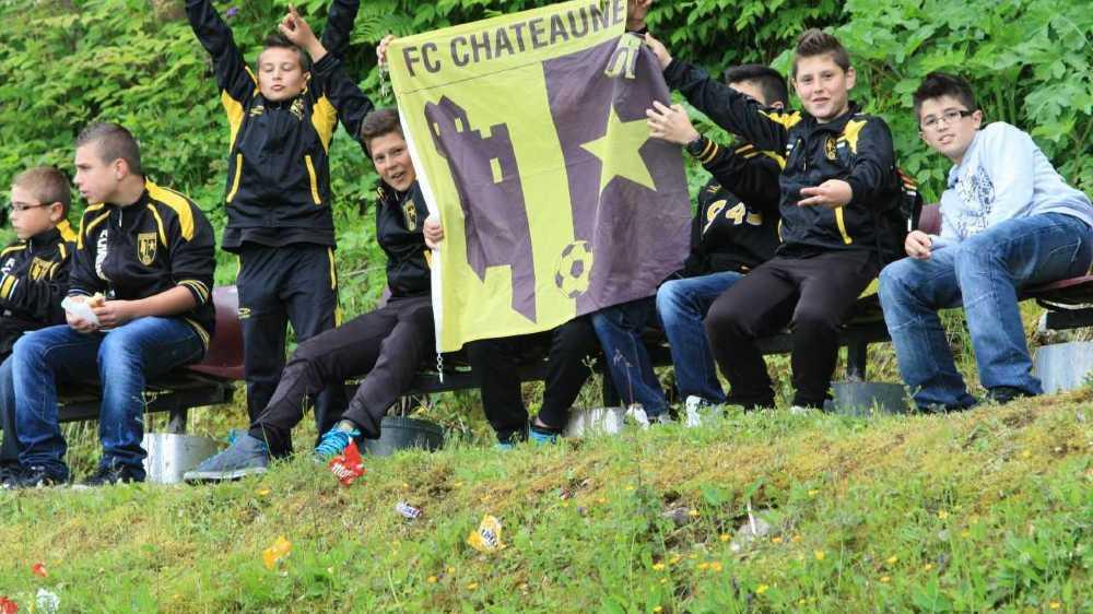 Les supporters du FC Châteauneuf s'étaient déplacés en nombre à Saint-Gingolph.