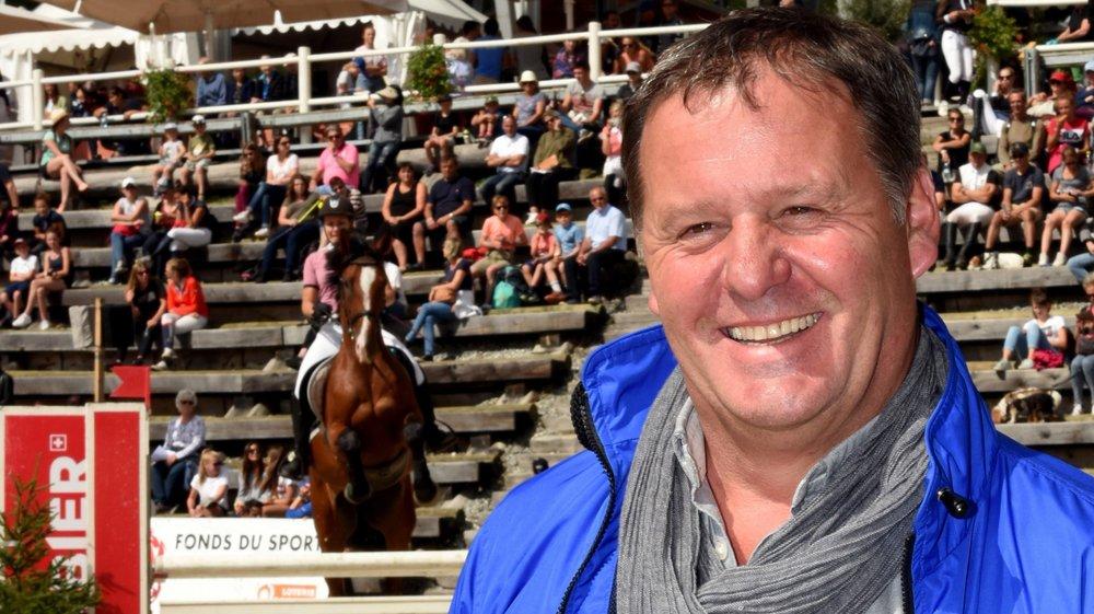 Un sourire de circonstance pour Michel Darioly dont les concours connaissent un vif succès à Verbier.