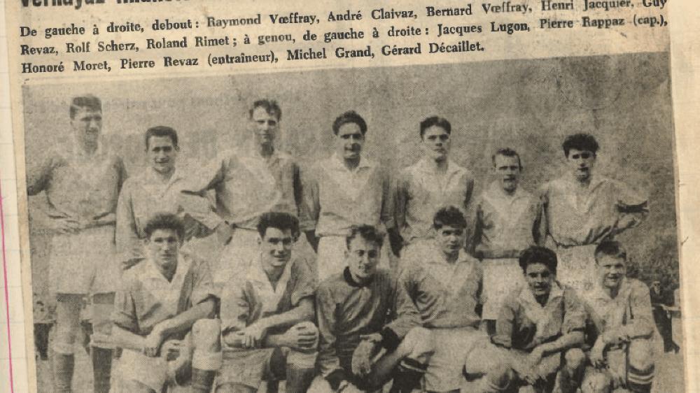 L'effectif du FC Vernayaz avait fière allure avant de défier l'ogre carougeois.