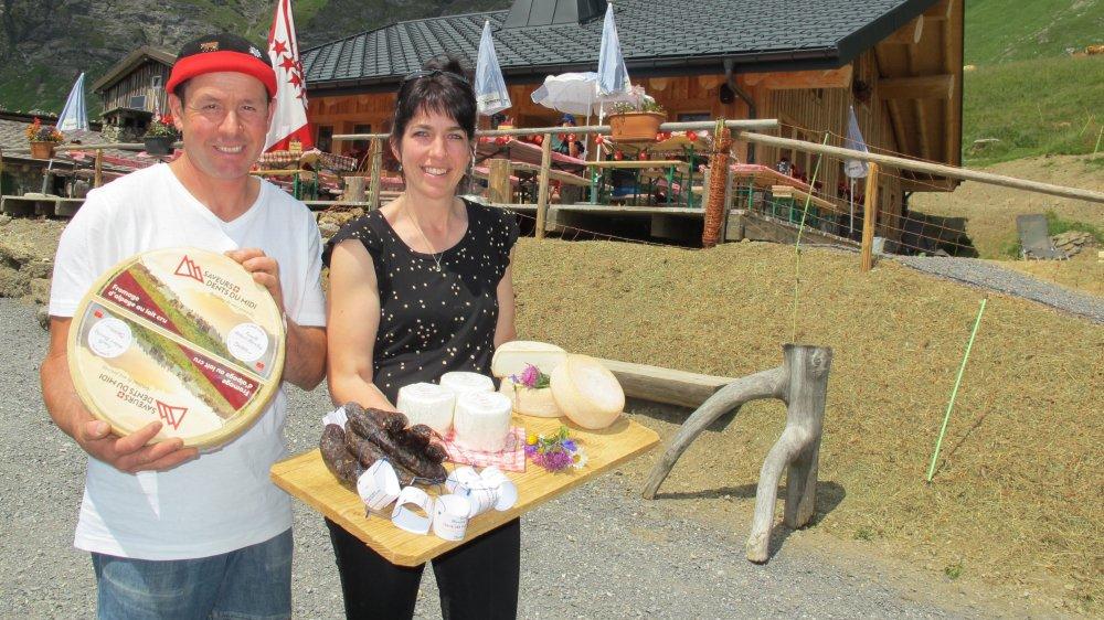 Désormais, les fromages et les saucisses produits par Hubert et Maureen Marclay sont estampillés du label de la région.