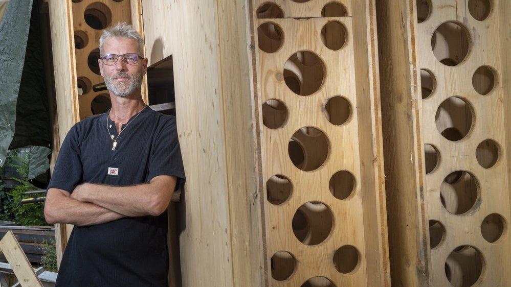Avec son invention, Patrice Fiaux veut révolutionner le monde de la charpente.