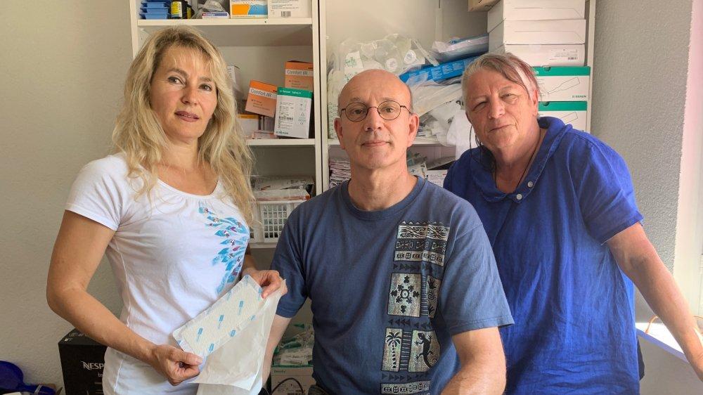 Janja Janjic, Jean-Charles Emery et Michèle Tröhler: trois des huit premiers infirmiers indépendants membres du groupe Pluriel.