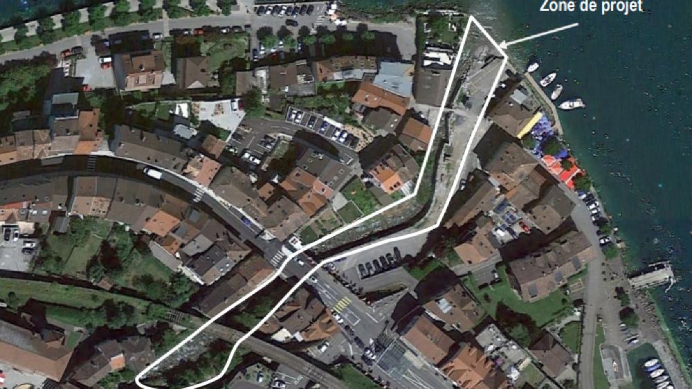 Le projet est à cheval sur les deux parties du village gingolais.