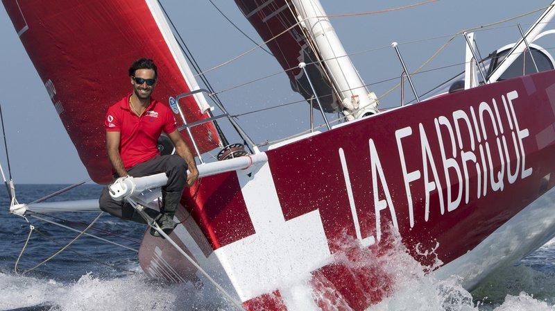 Le Genevois Alan Roura et son bateau La Fabrique sont partis le 11 juillet pour tenter de battre le record de la traversée de l'Atlantique nord. (Archives)