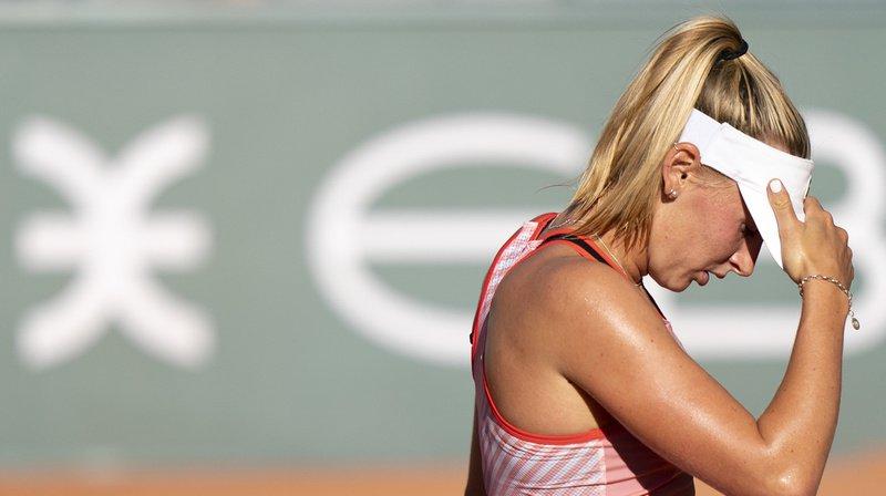 Jil Teichmann a été éliminée en quart de finale du tournoi de Lausanne par l'Allemande Tamara Korpatsch.