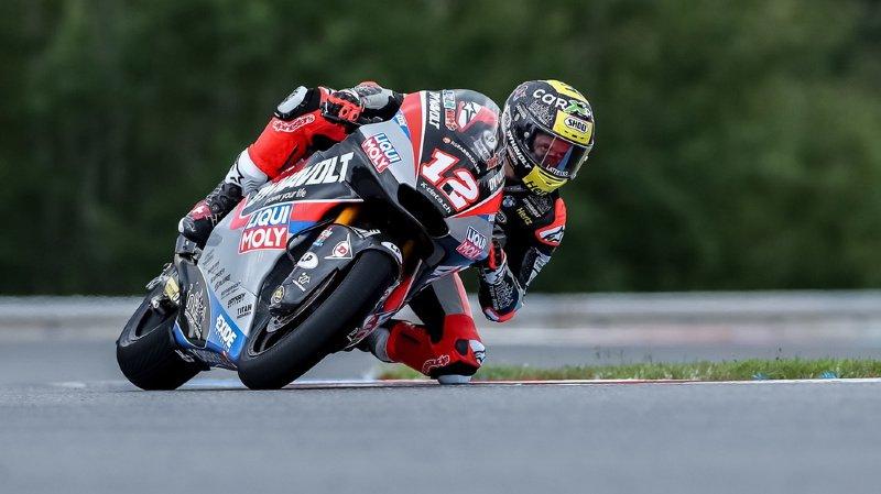 Thomas Lüthi (Kalex) a effectué une mauvaise opération à Brno au GP de République tchèque.