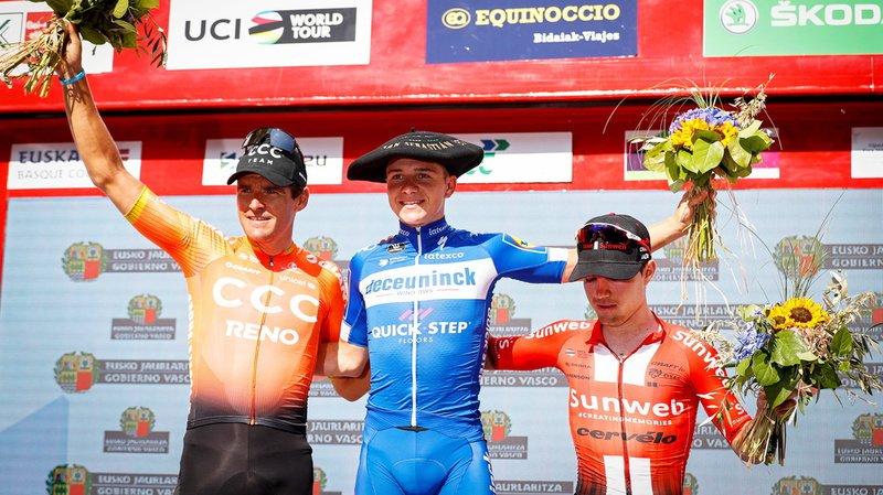 Cyclisme – Clasica San Sebastian: le Belge Evenepoel s'offre la victoire, le Suisse Marc Hirschi termine troisième