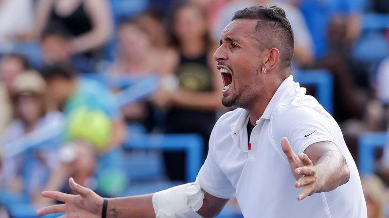 Tennis: Nick Kyrgios pète à nouveau un plomb au tournoi de Cincinnati