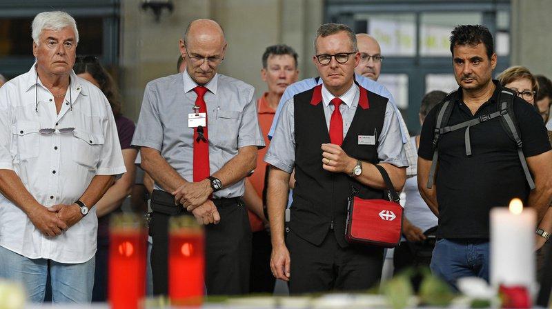 Zurich: une minute de silence pour l'employé des CFF mort à Baden (AG)