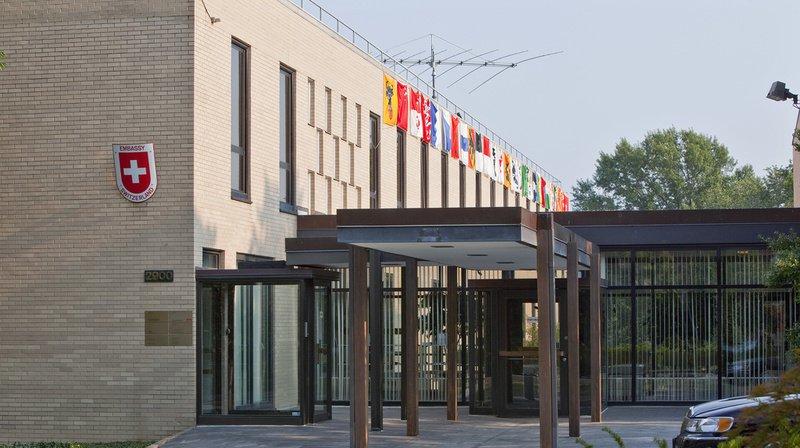 Etats-Unis: un fabricant d'armes a sponsorisé une fête à l'ambassade de Suisse à Washington