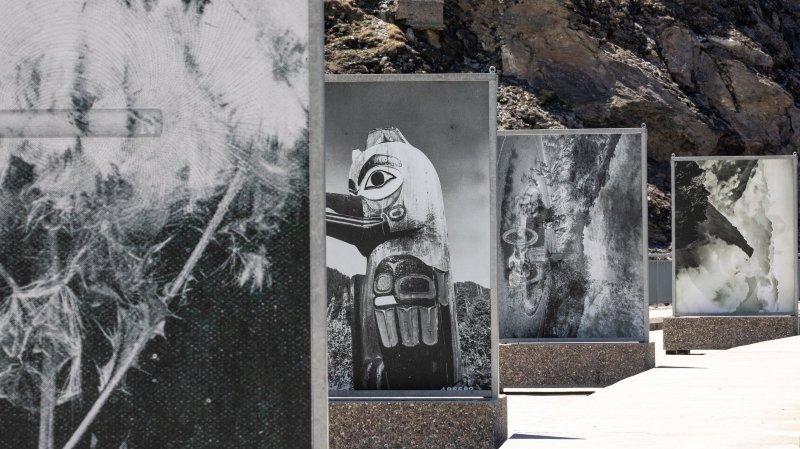 La superbe exposition de l'artiste suisse établie à Amsterdam Batia Suter, sur le couronnement du barrage de Mauvoisin.