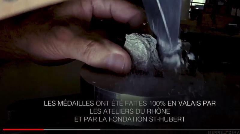 La fabrication des médailles.