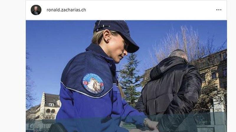 Conseil national: la police demande de retirer une pub électorale à un candidat de l'UDC du Valais romand