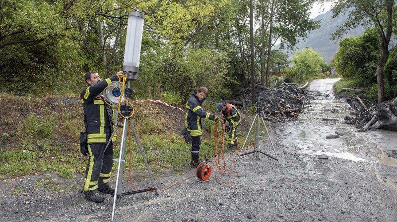 Les recherches des deux disparus ont repris à Chamoson