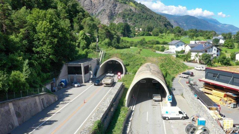 Le tunnel de Gamsen relie Viège à Brigue.