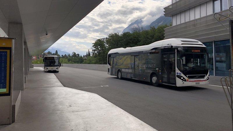 Dès le 26 octobre, les bus sierrois relieront la gare CFF de Sierre au téléphérique Chalais-Vercorin.
