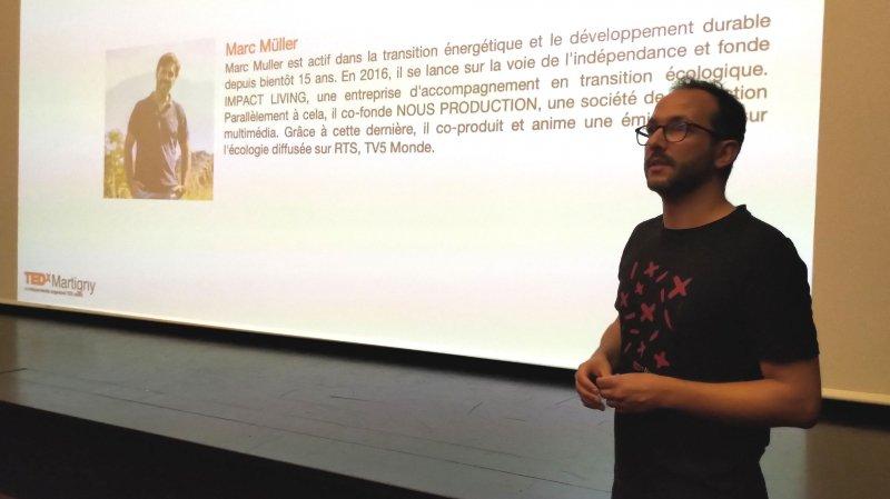 Cofondateur de TEDx Martigny, Alexandre Luyet présente les orateurs de l'édition 2019.