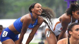 Athlétisme: Dalilah Muhammad bat le record du monde du 400 m haies, discipline de Lea Sprunger