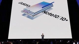 Samsung présente son dernier appareil haut de gamme: le Galaxy Note 10