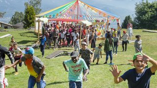 Haute-Nendaz: un camp d'été pour égayer les vacances d'enfants de migrants