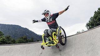 Le Valais a accueilli la première rencontre de skateboard en chaise