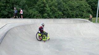 Première rencontre suisse de WCMX (WheelChair MotoCross) en Valais