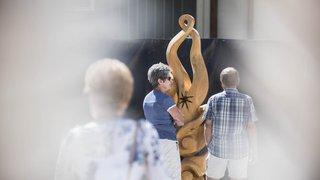 Thyon: les sculpteurs sur bois à Montagn'Art