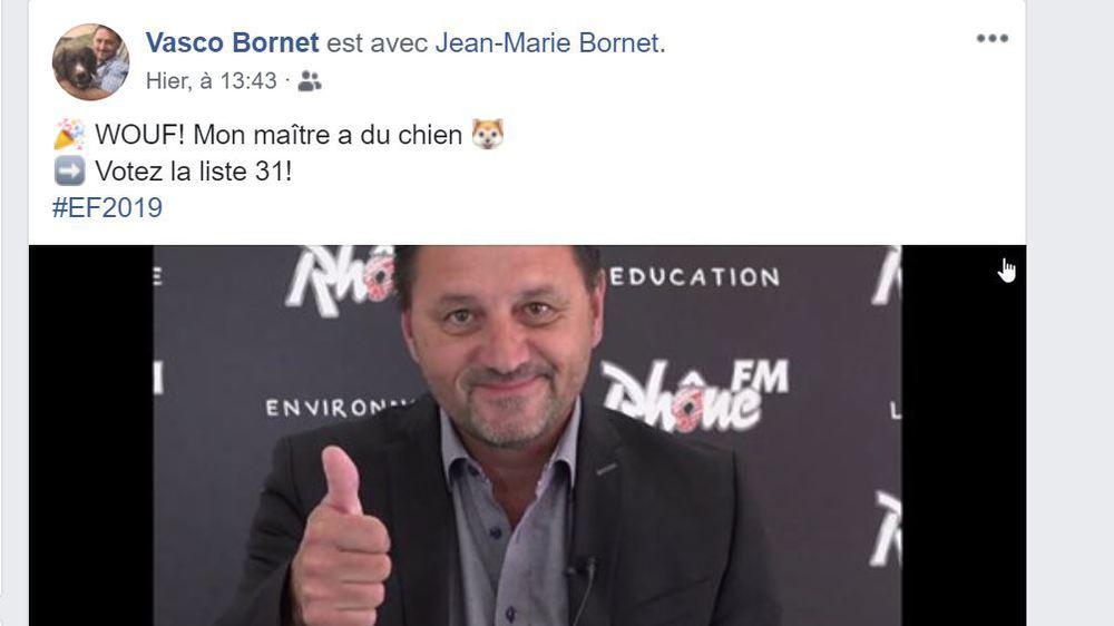Son chien voterait Bornet.