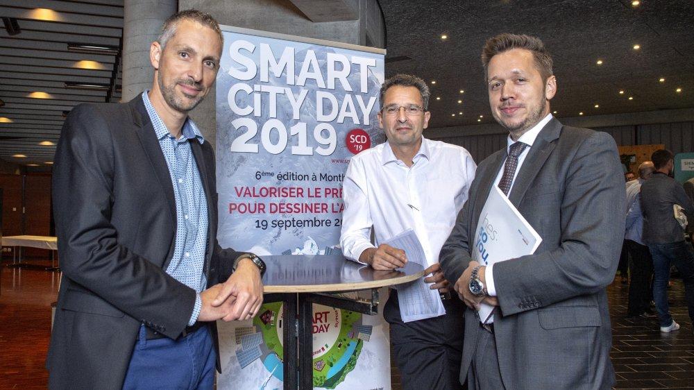 Pour Samuel Claret, Jean-François Hugues et Gaëtan Cherix, le confort du citoyen est au cœur de l'écosystème d'une smartcity.