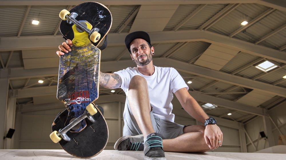 Vincent Weil s'entraîne à raison de deux heures par jour en vue du championnat du monde de streetboard qui se déroule samedi à Nantes. Nous l'avons rencontré à l'Alaïa Chalet de Lens.