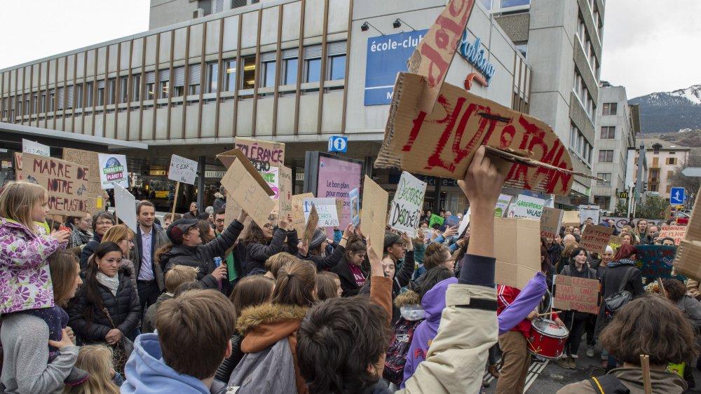 Les marches pour le climat avaient attiré l'attention des autorités valaisannes.