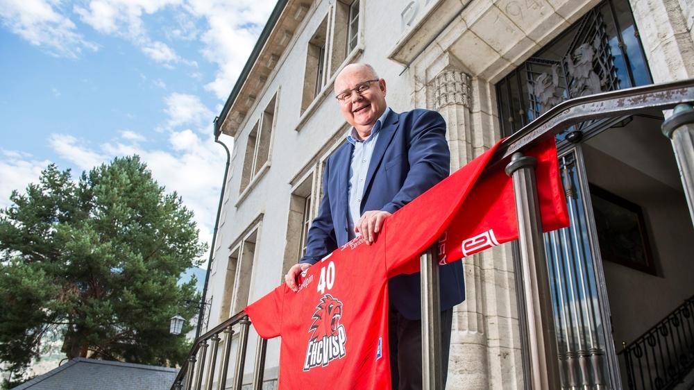 Niklaus Furger, un président de commune heureux de pouvoir compter une nouvelle patinoire et halle de manifestations dans sa ville.