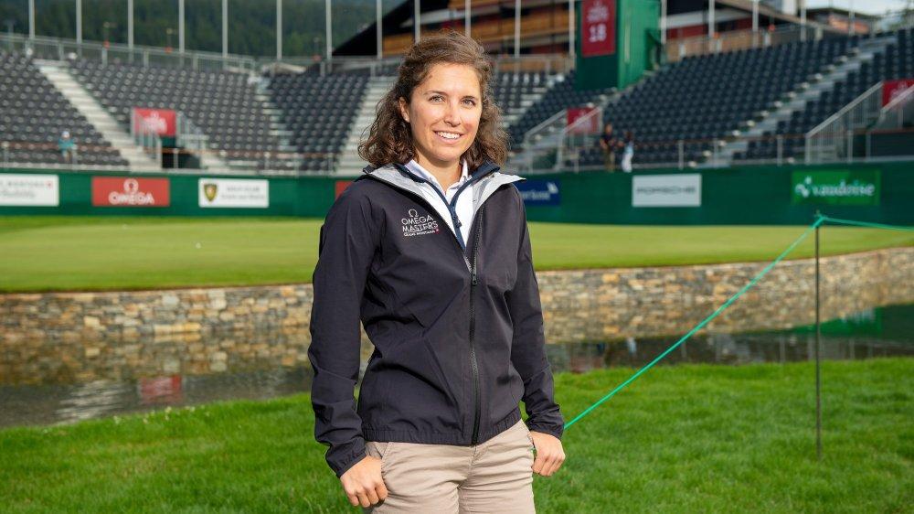 Sophie Clivaz passe aisément des pistes de ski aux greens de golf. En Suisse et à l'étranger.