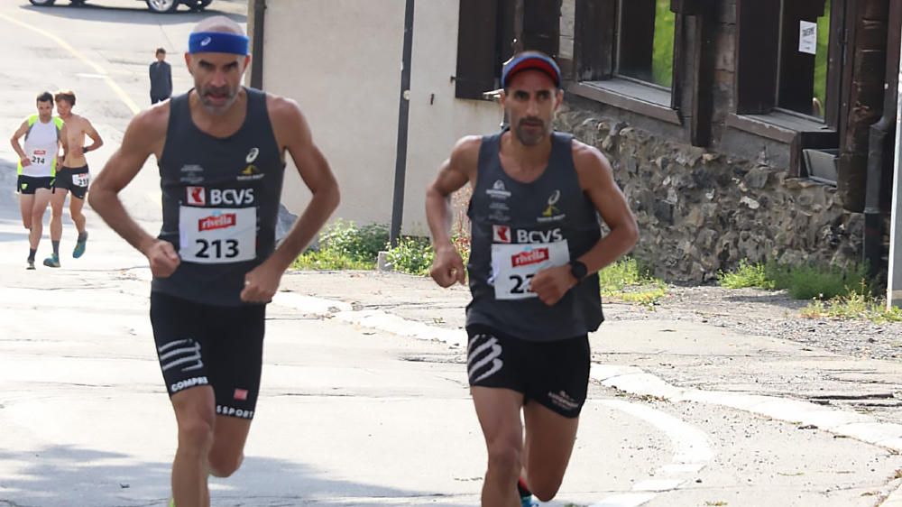 Pierre-André Ramuz et César Costa ont fait la course ensemble avant que le second donne un coup d'accélérateur.