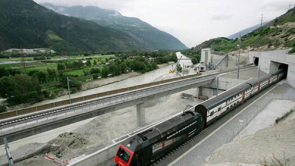 La construction du deuxième tube du Lötschberg va perturber le trafic pendant plusieurs mois.