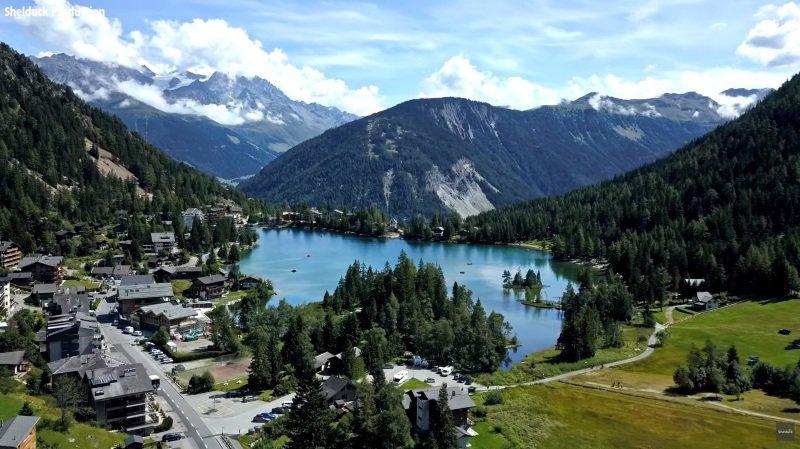 Champex-Lac c'est encore plus beau vu d'en haut.
