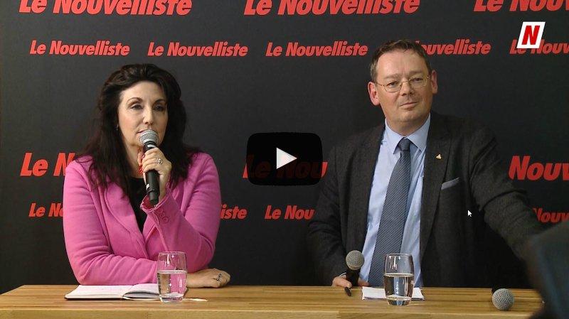 Fédérales 2019: face à face sur l'accord cadre avec l'UE entre Franz Ruppen UDC et Paola Riva Gapany PS