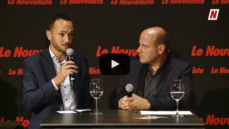 Fédérales 2019: face à face sur la politique familiale entre Mathias Reynard PS et Serge Métrailler PDC
