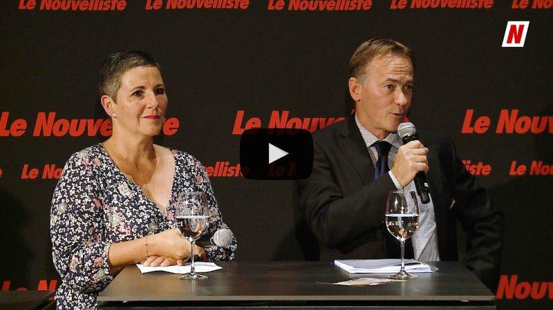 Fédérales 2019: Face à face fiscalité entre Donald Moos UDC et Martine Tristan Avenir Écologie