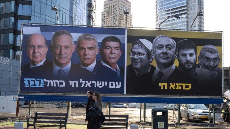L'alliance Bleu et Blanc de Benny Gantz est au coude-à-coude avec le Likoud de Benjamin Netanyahu.
