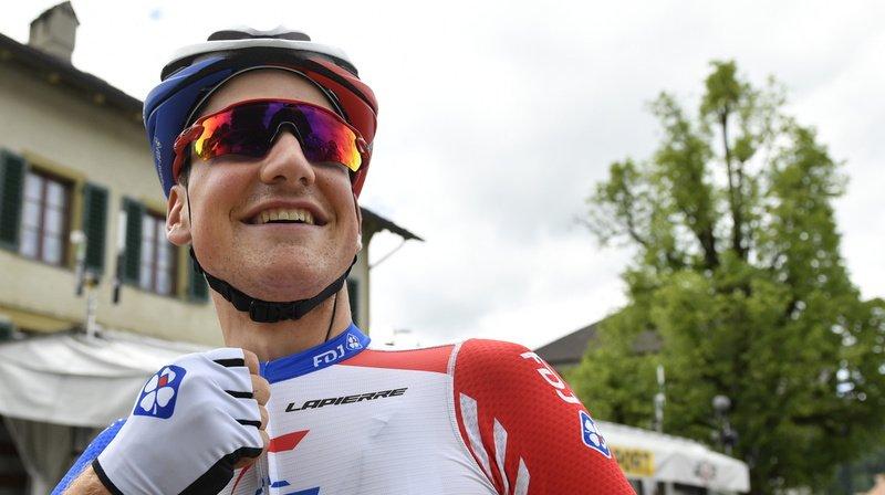 Stefan Küng fête sa quatrième victoire de la saison, après notamment un titre de champion de Suisse du contre-la-montre. (Archives)