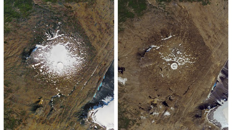 Réchauffement climatique: l'Islande dit adieu à l'Okjökull, glacier disparu
